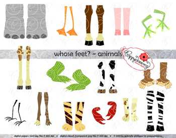 Foot clipart animal. Whose feet by poppydreamz