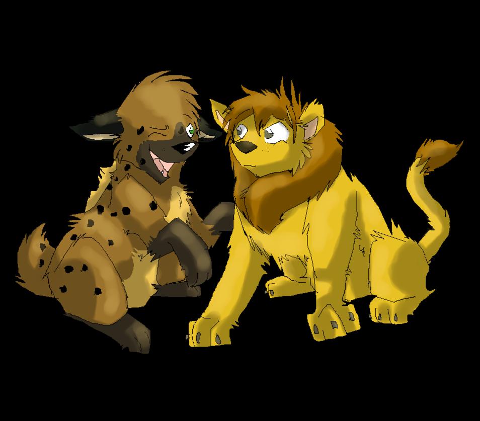 Best friends by dortetorte. Clipart lion hyena