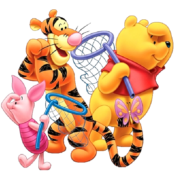 Number 4 clipart character. Baby winnie the pooh
