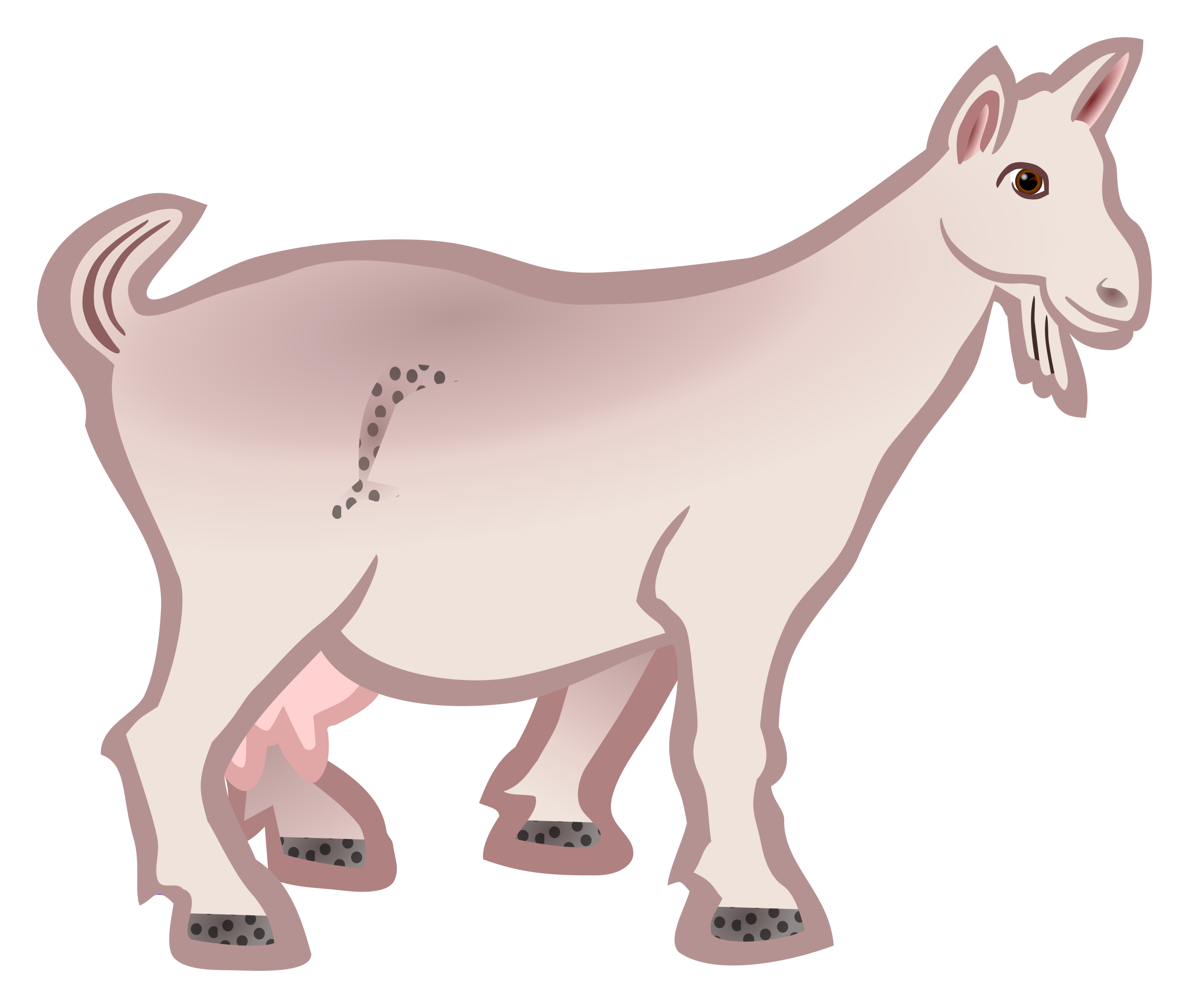 Cool clipart goat. Coloured big image png