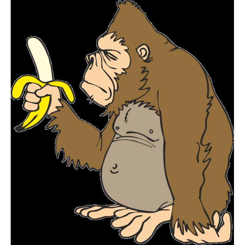 clipart banana gorilla