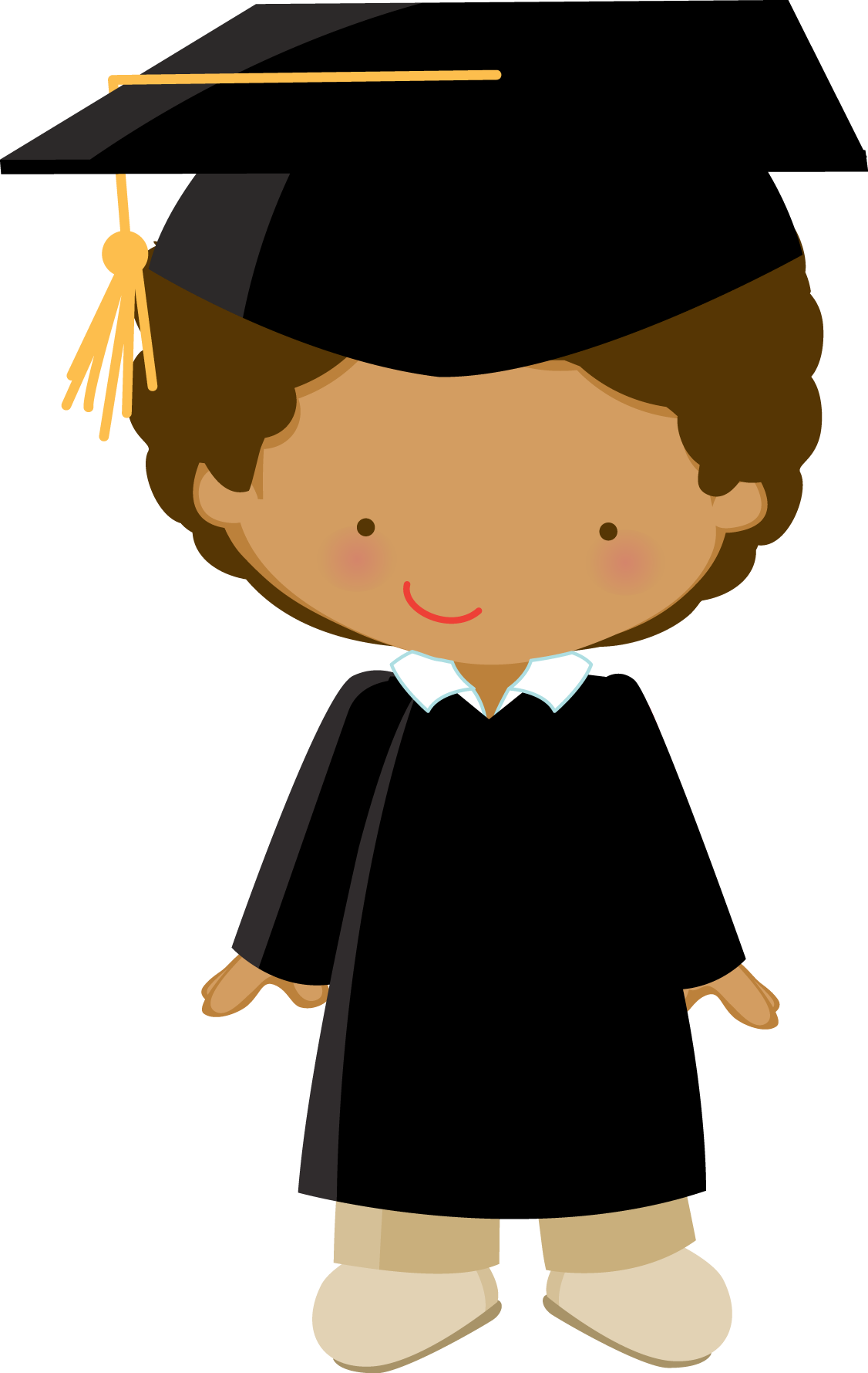 Paper clipart graduation. Little graduate zwd boy