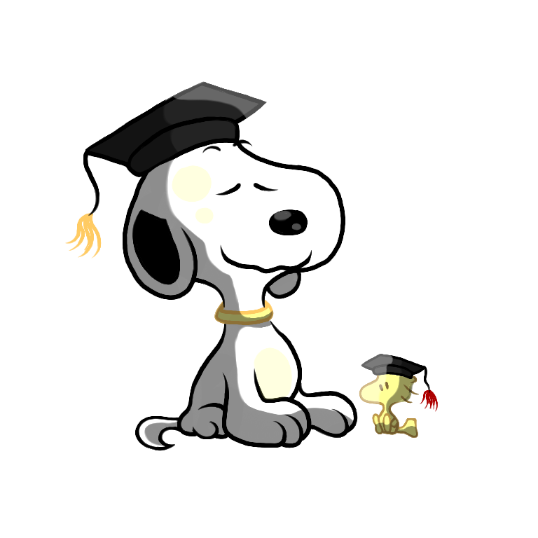 Snoopy animals cliparts free. Clipart dog graduation