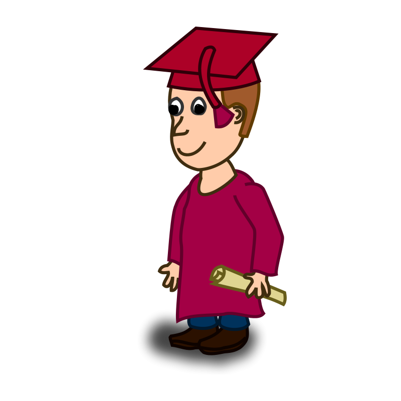Free education graphics male. Paper clipart graduation
