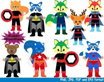 Super woodland clip art. Hero clipart halloween