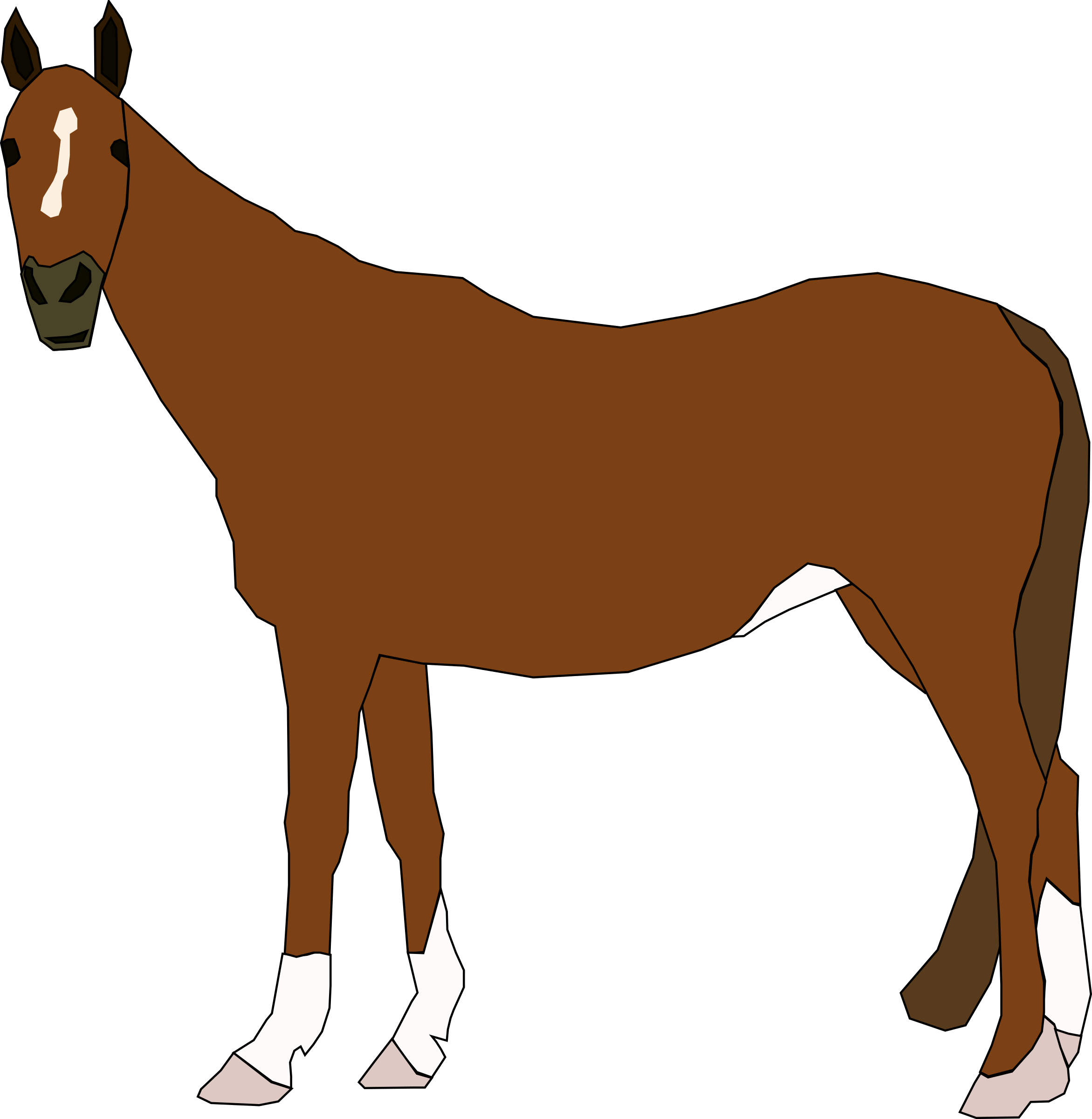 clipart horse standing