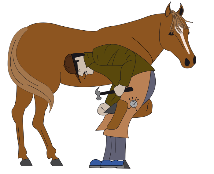 Horse free graphics of. Mule clipart animated