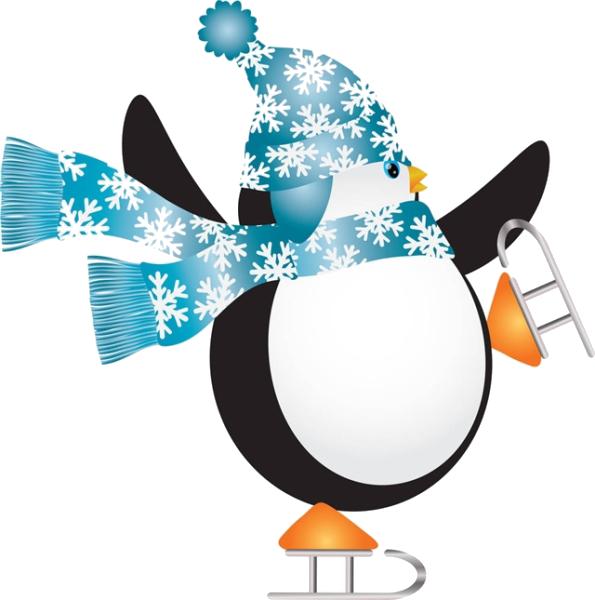 Skate rink clip art. Clipart penguin ice skating