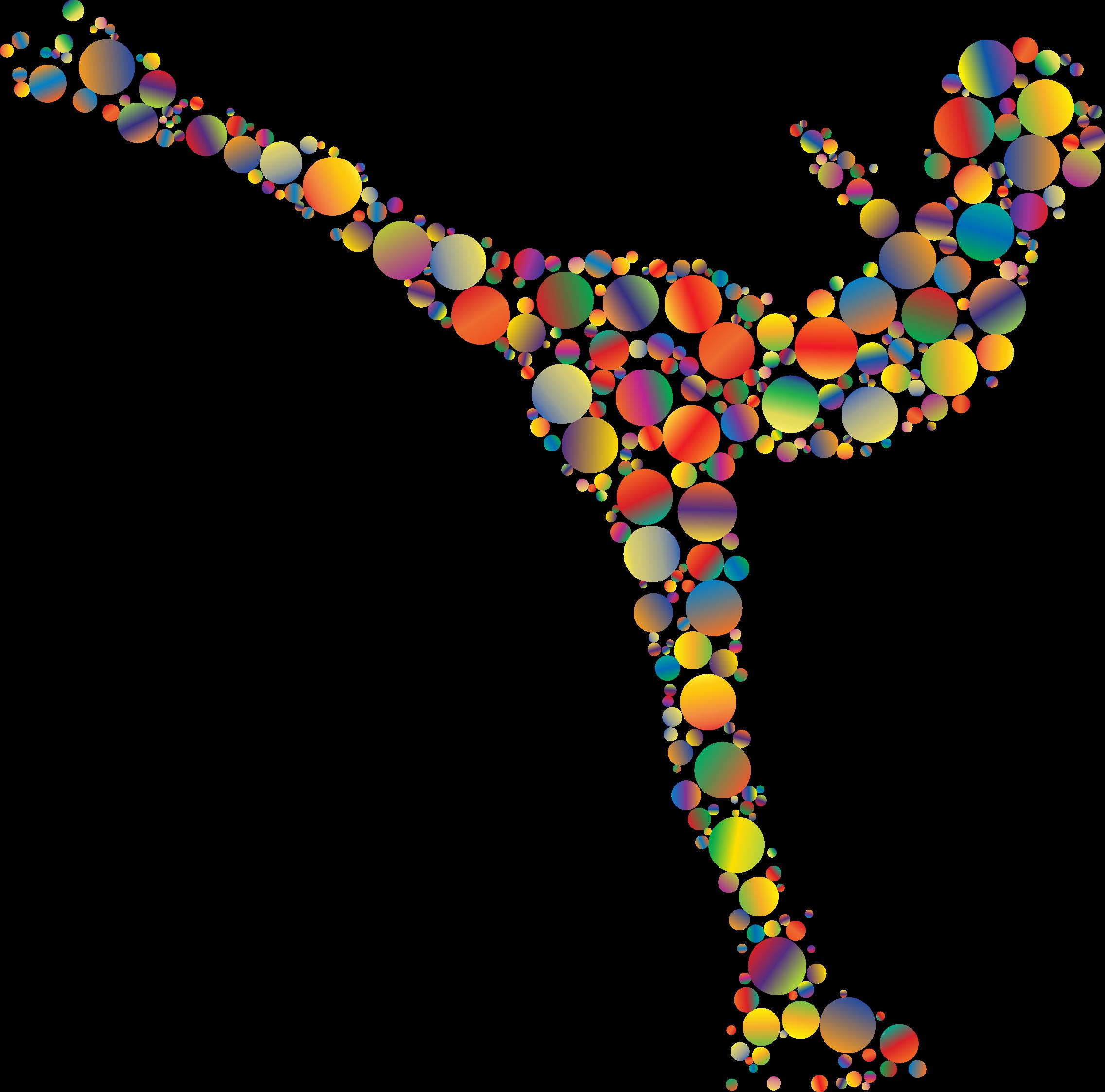 Colorful ice skating circles. Colors clipart woman