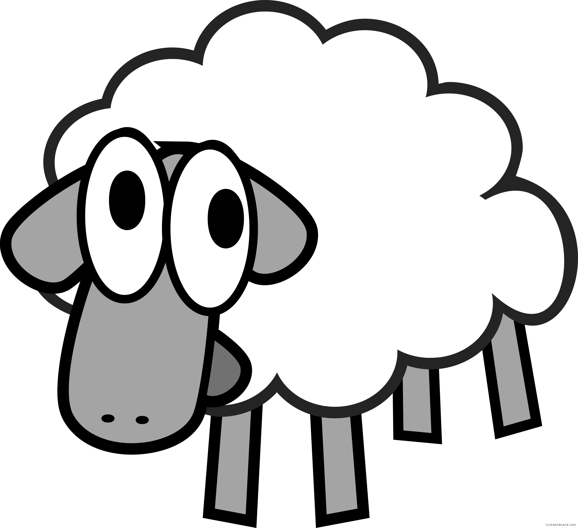 Home clipart sheep. Cartoon animal free black