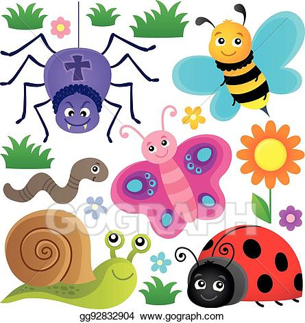 Insect clipart spring. Vector stock animals and