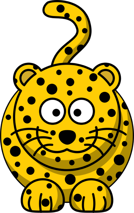 Free of cats spotted. Insects clipart jungle