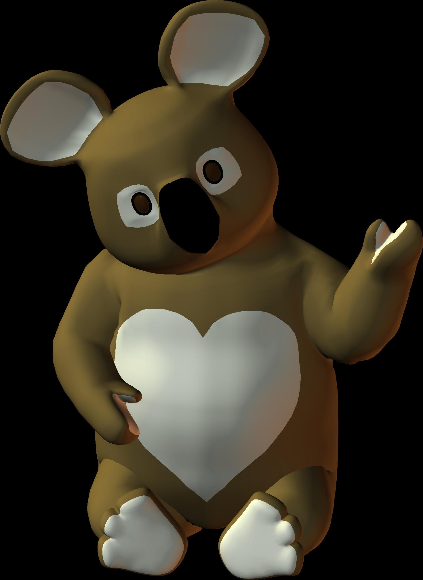 Clipart animals koala. Png heart bear by
