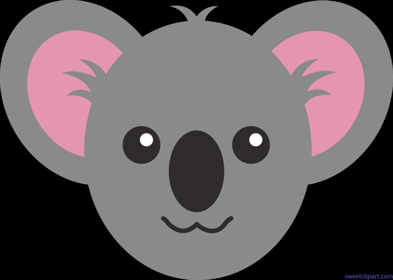 Face clip art sweet. Clipart animals koala