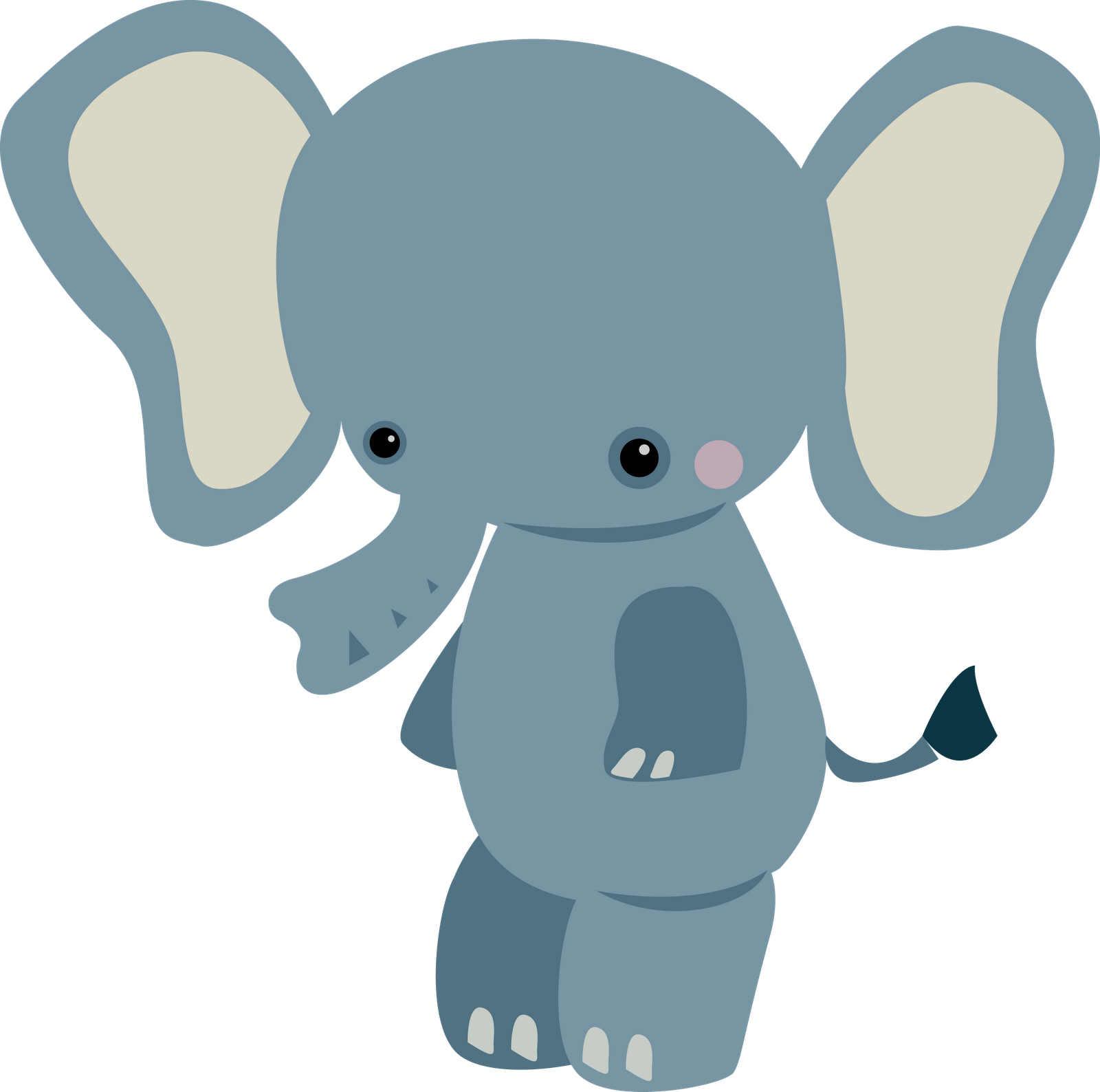 Baby elephant clip art. Woodland clipart animal community