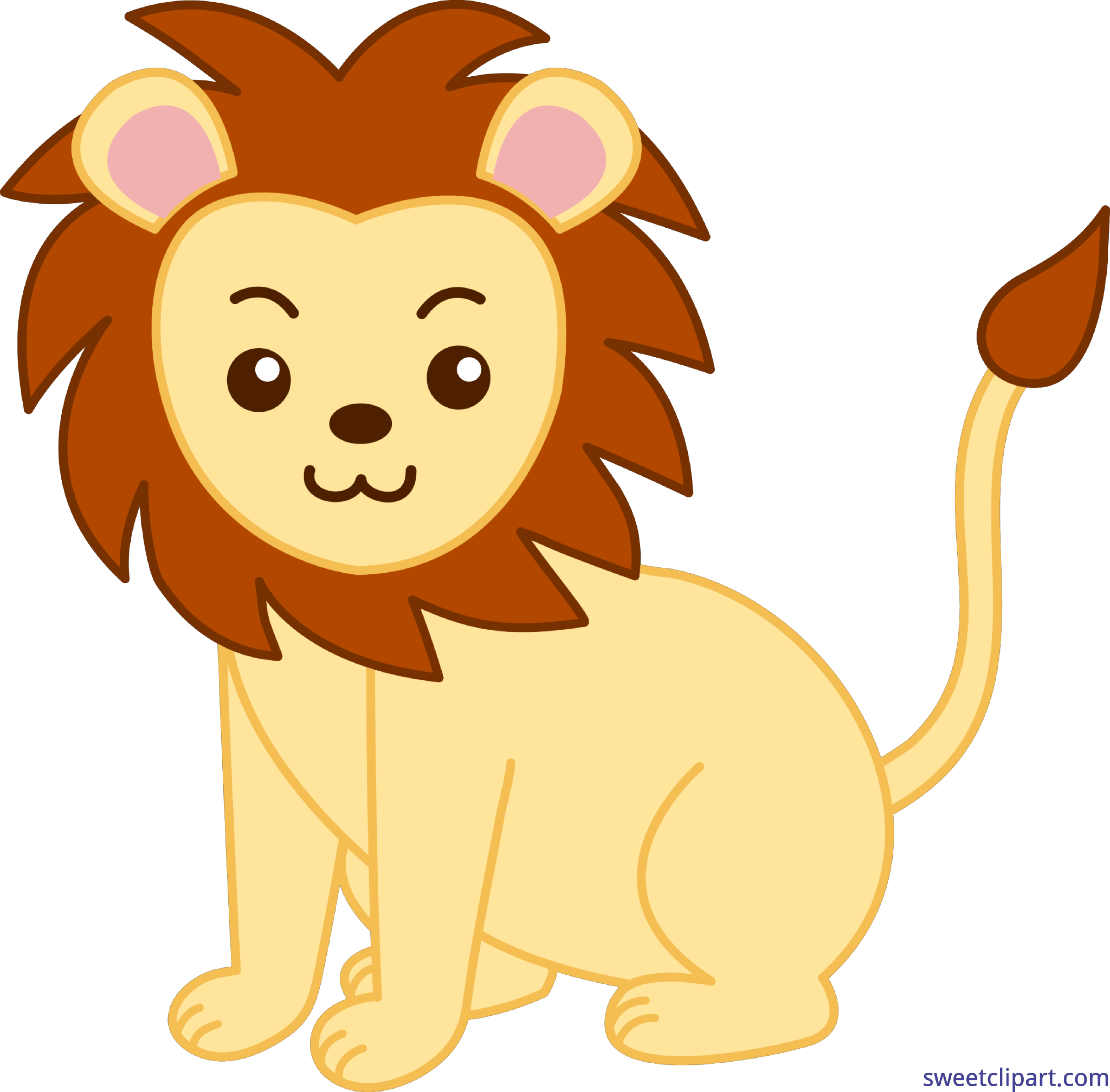 Email clipart cute animal. Lion clip art sweet