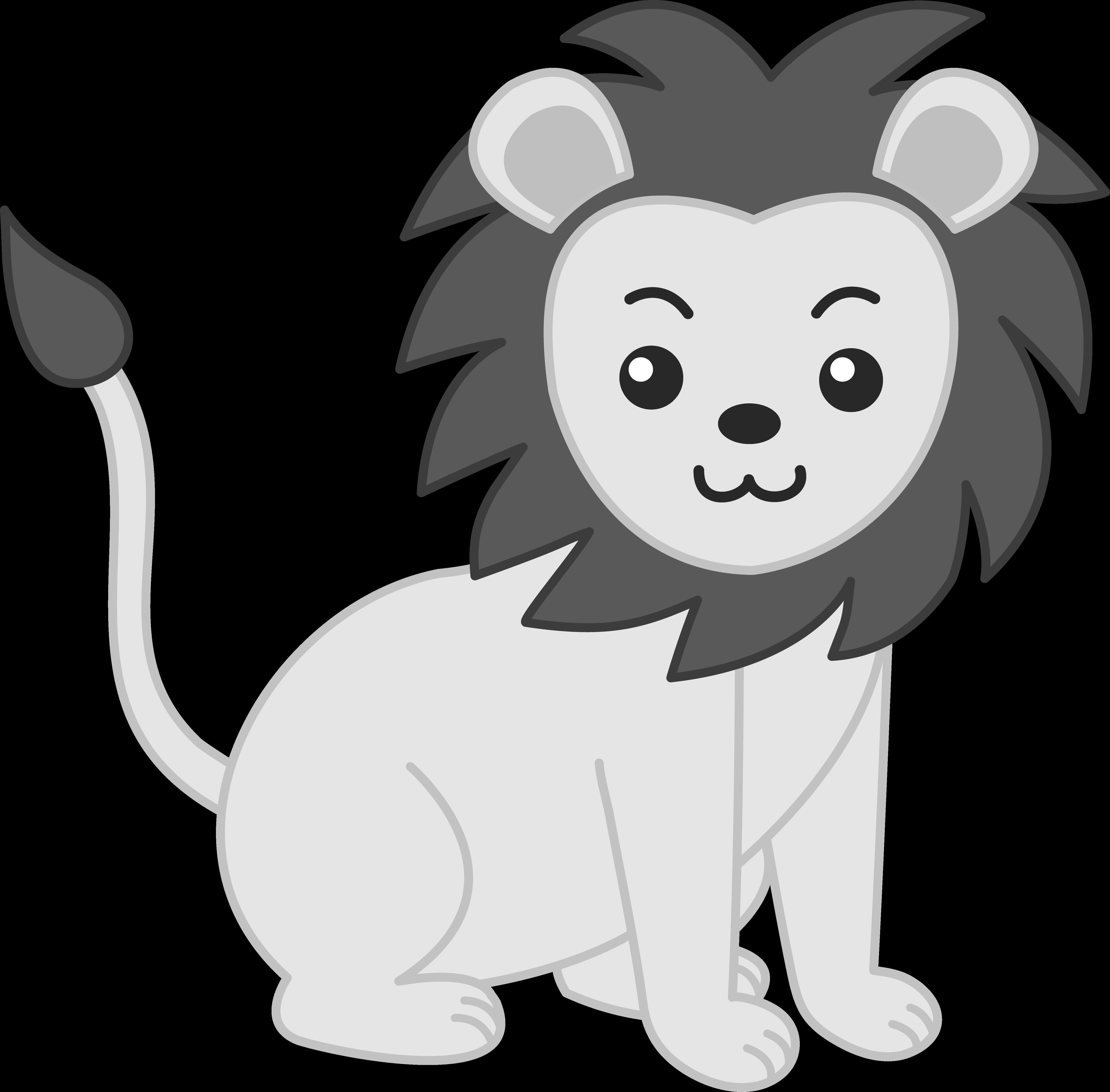 Baby clipartblack com animal. Free clipart lion