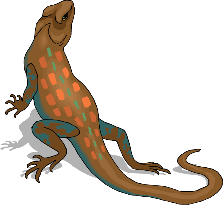 Free . Lizard clipart blue lizard