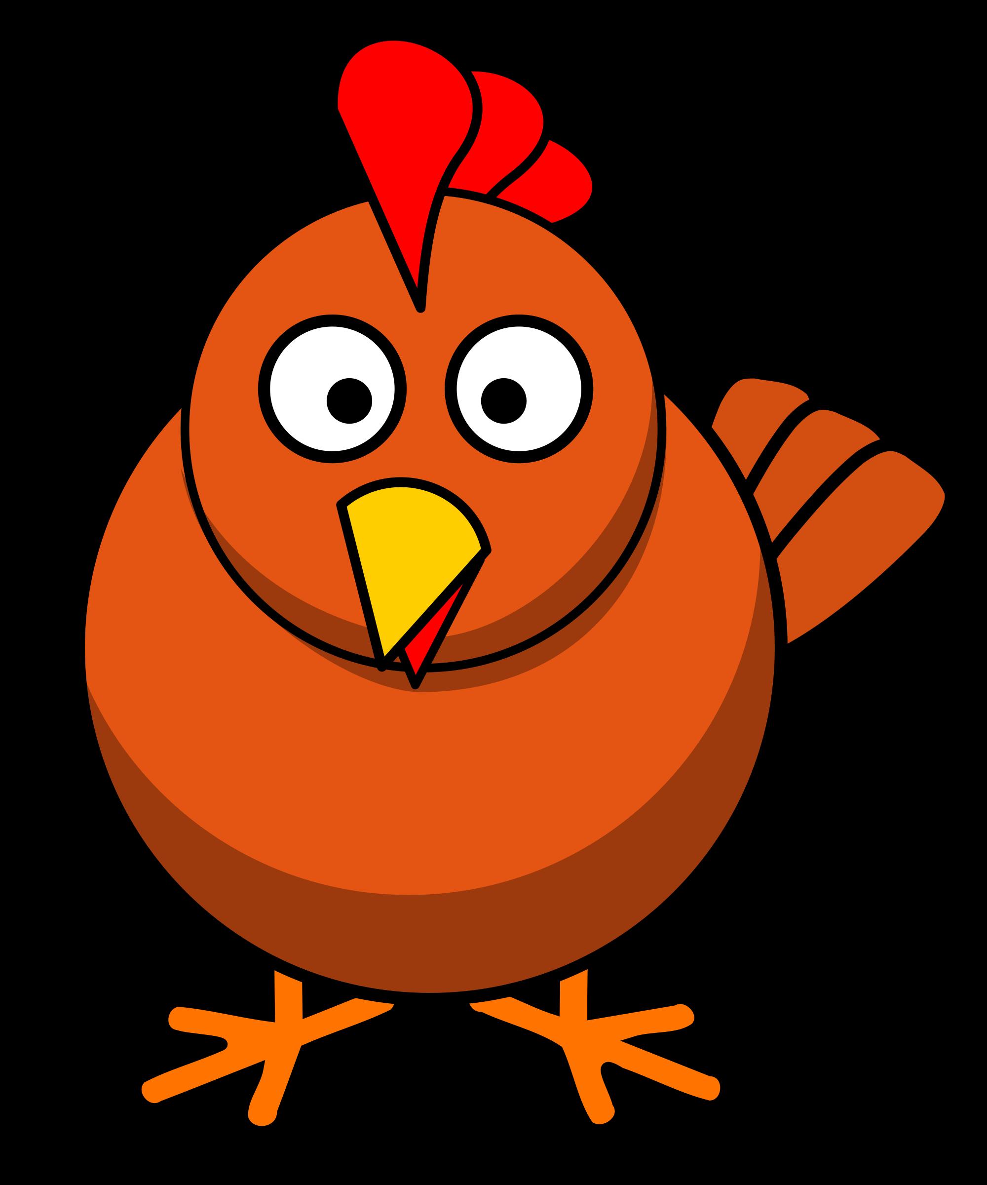 Round cartoon big image. Hen clipart chicken beak