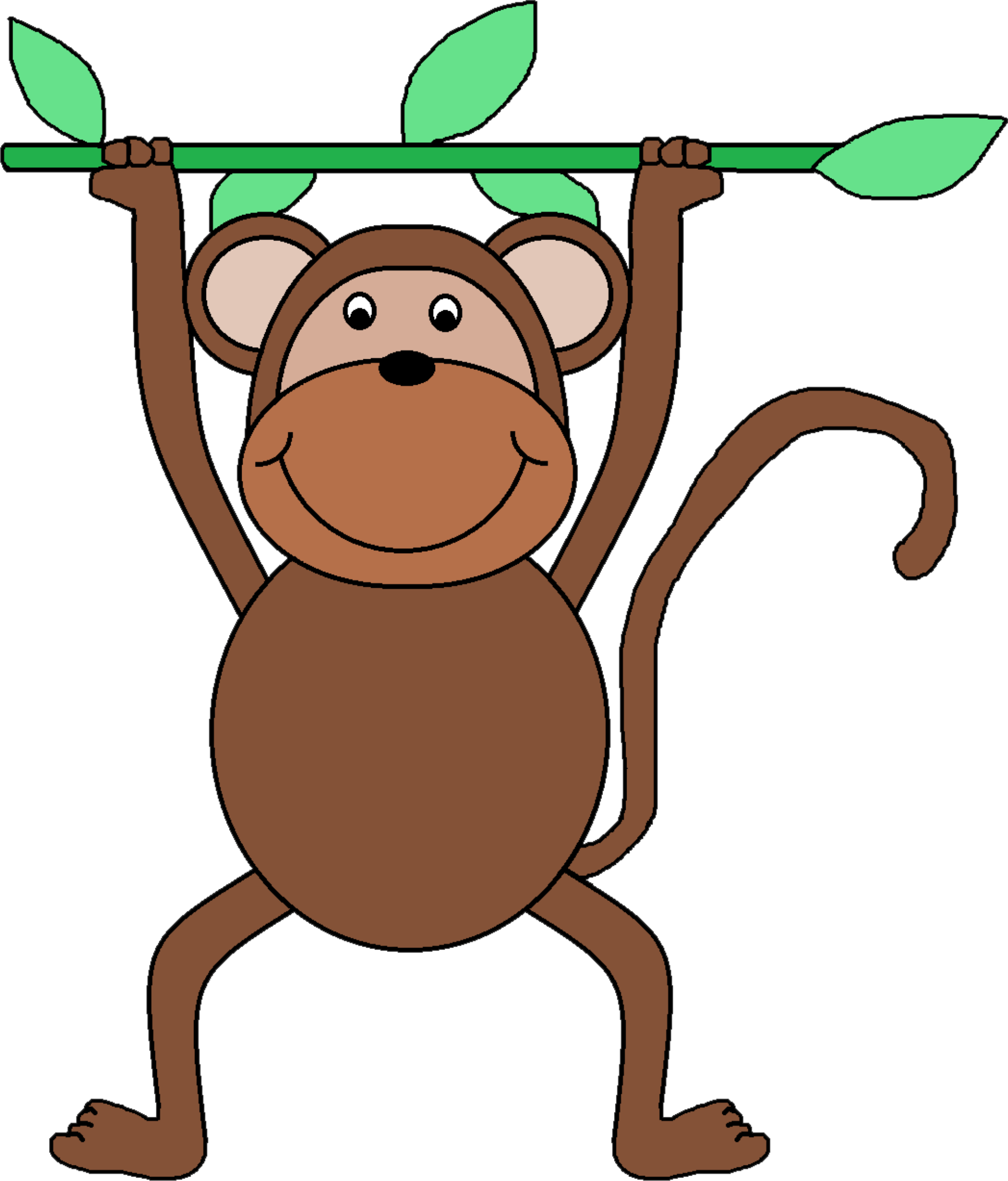 Clipart animals monkey. Clip art big image
