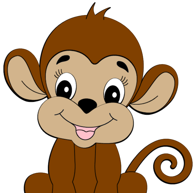 collection of cute. Clipart animals monkey