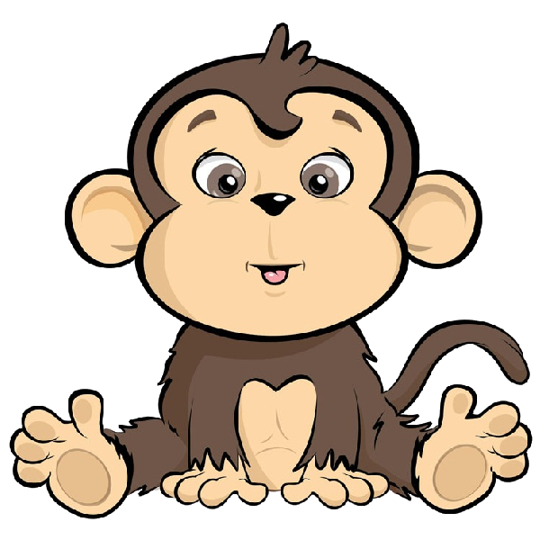 Monkey clipart pencil. Cartoon monkeys pinterest and