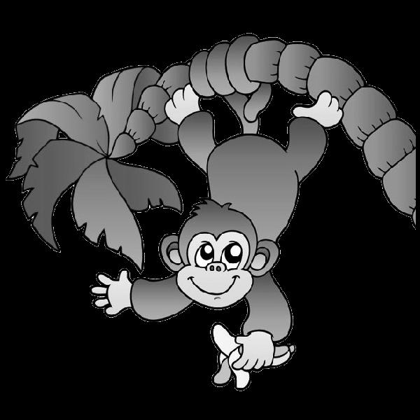Baby clipartblack com animal. Clipart animals monkey