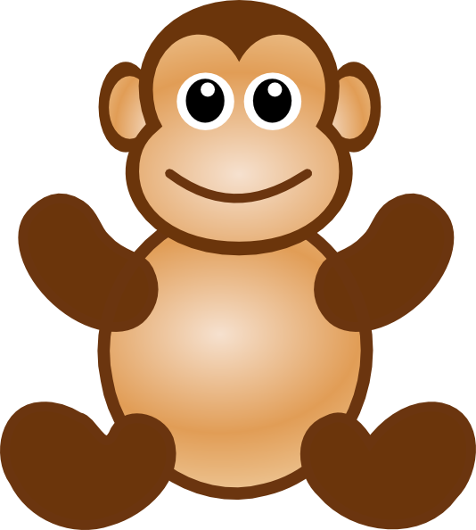 collection of animals. Valentine clipart monkey
