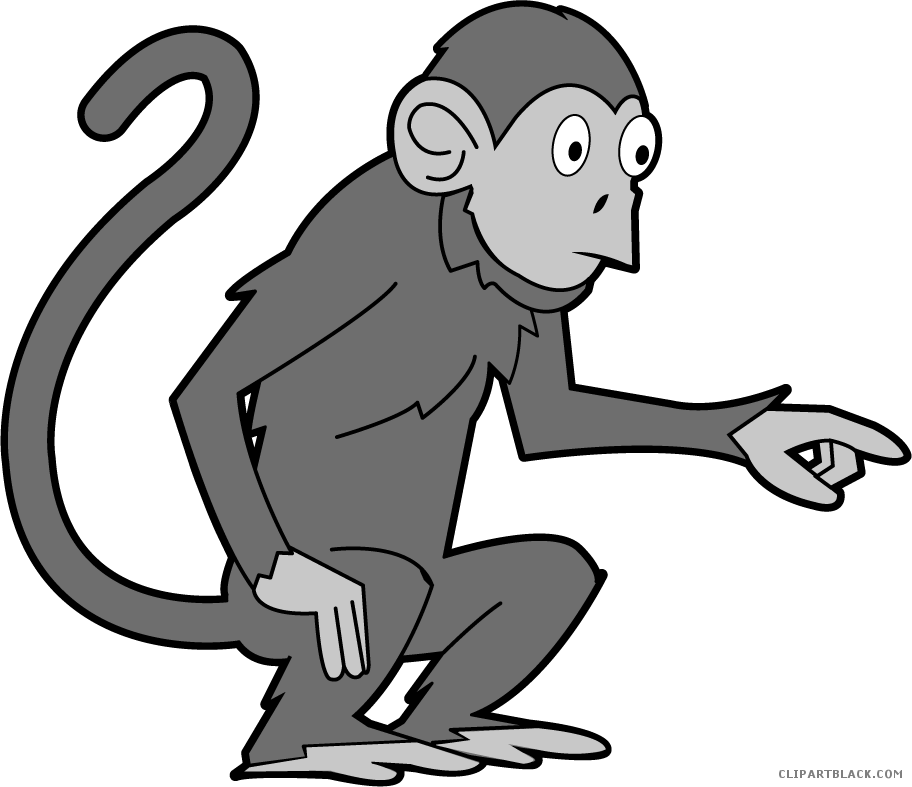 Monkey clipart animal. Page of clipartblack com