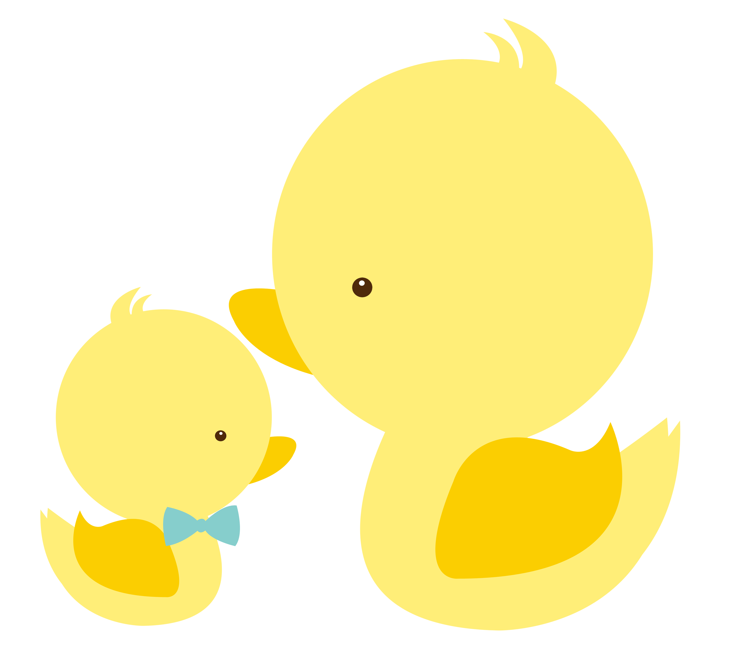 Cat mom and baby. Ducks clipart little duck