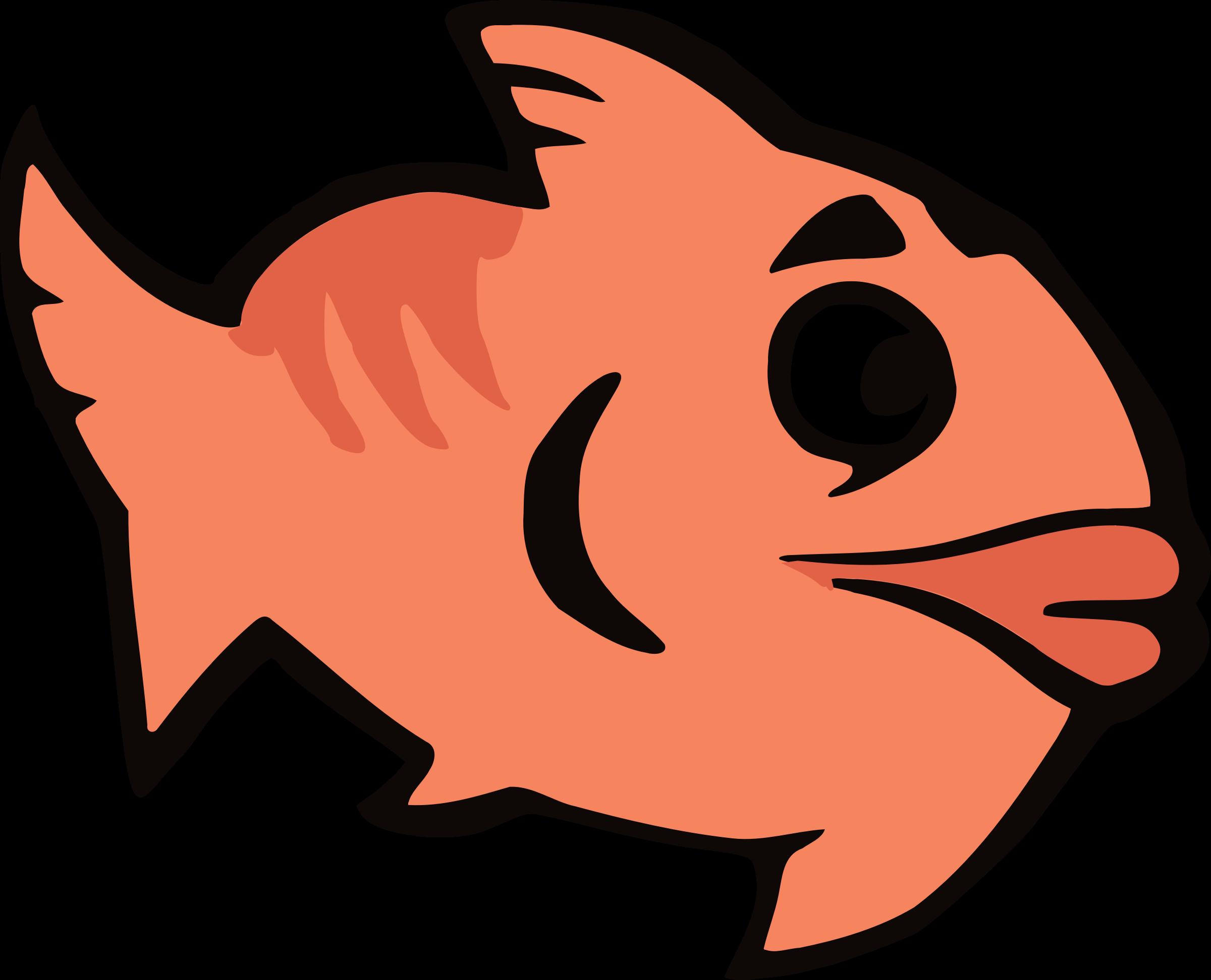 Fish clipart talk. Cartoon big image png