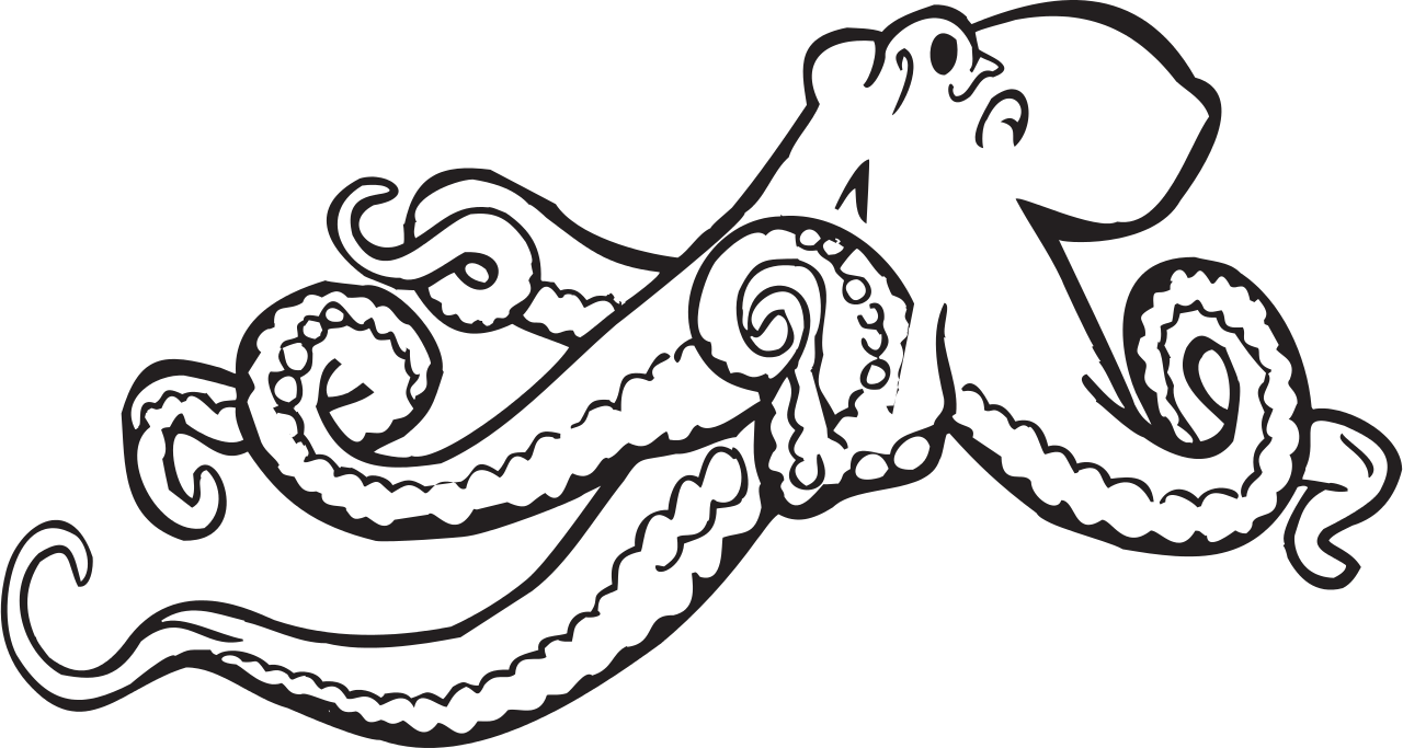 Fish clipart octopus. File svg wikimedia commons