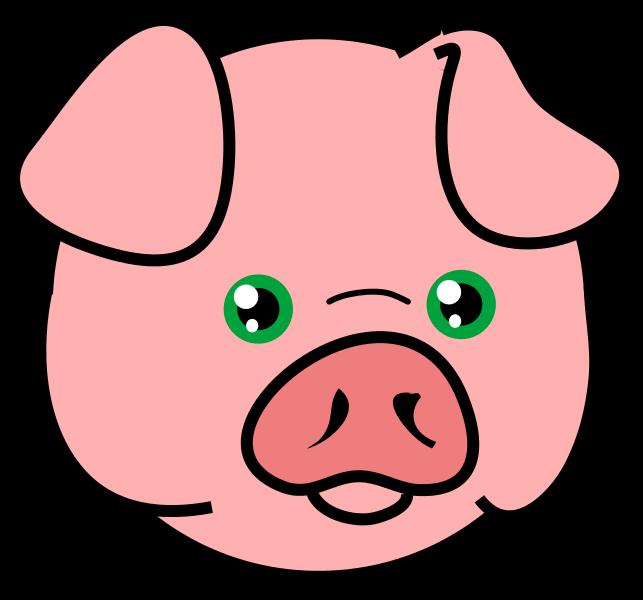 Eyeball clipart pig. Farm animals face pencil