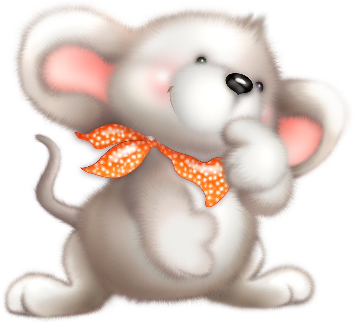 Cute white mouse animalitos. Jungle clipart field