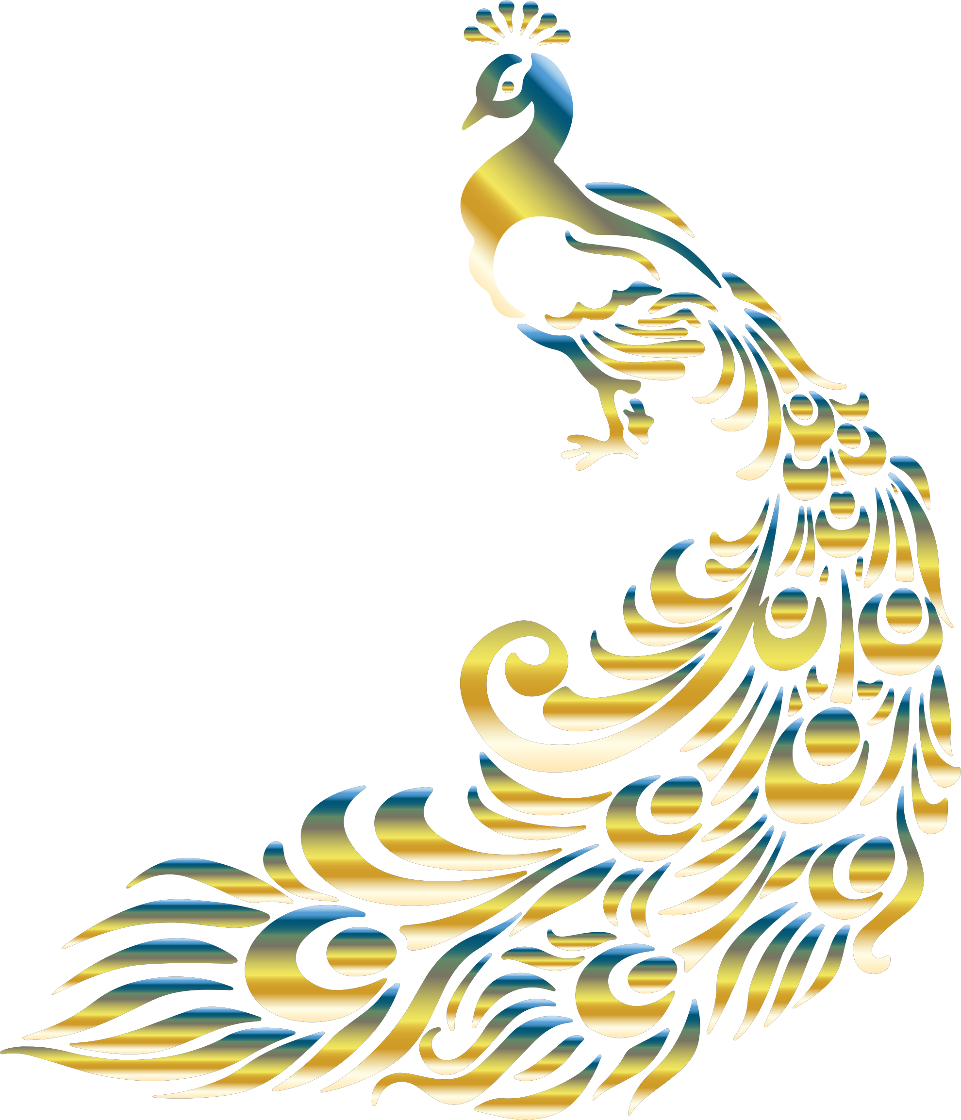 Chromatic no background icons. Clipart wedding peacock