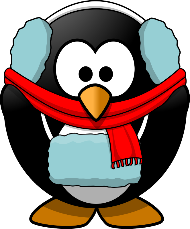 Cold penguin . Heat clipart animated