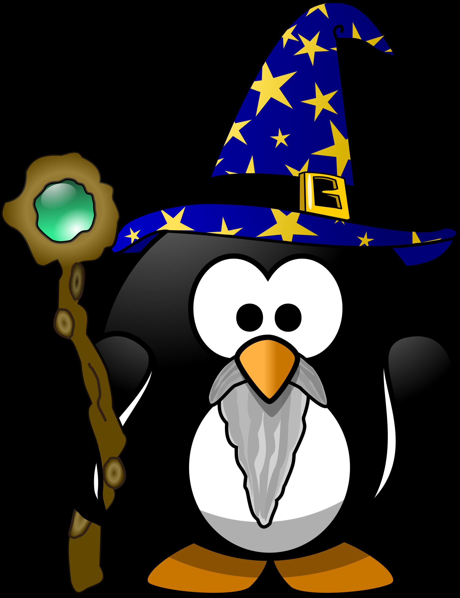 Purple clipart wizard. Penguin
