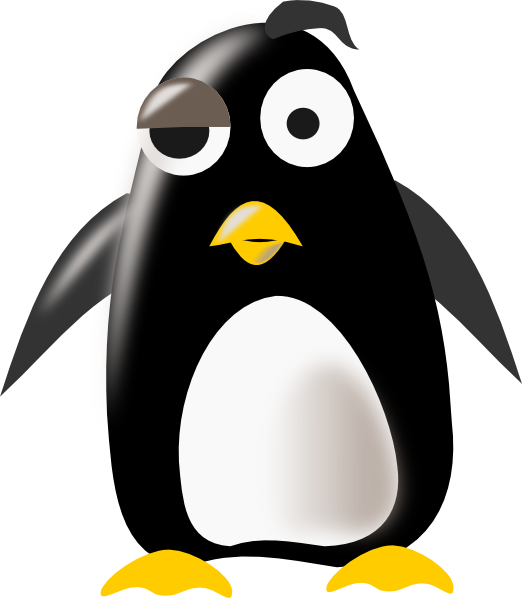 Clip art at clker. Muscles clipart penguin