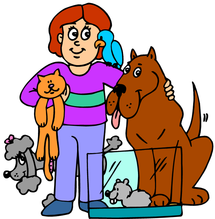 Free animal service cliparts. Person clipart pet