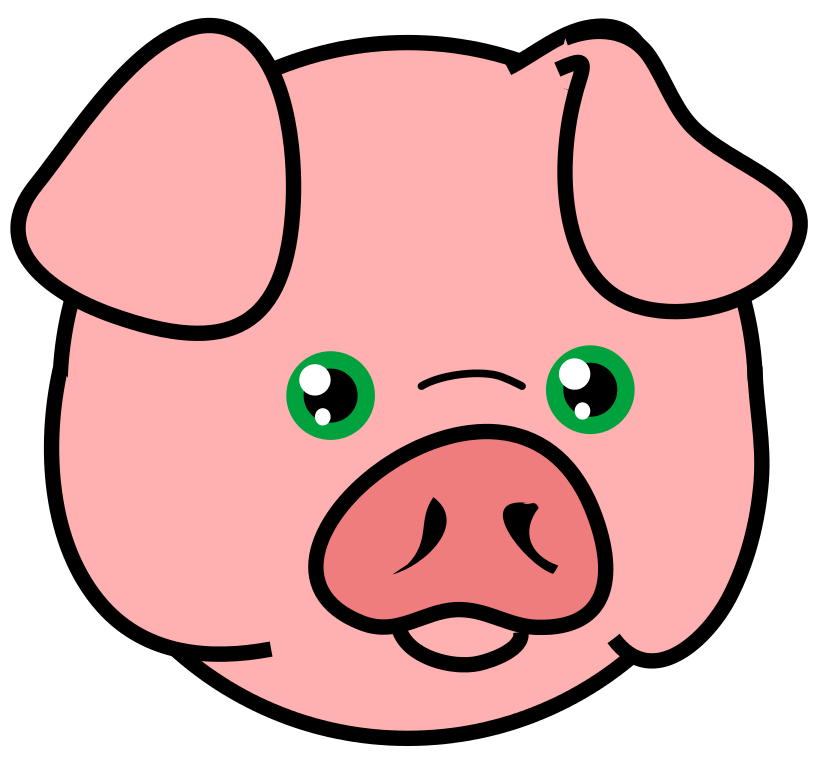 Clipart animals pig. File icon svg wikipedia