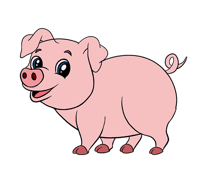 Monkey clipart pig. Drawing pictures at getdrawings