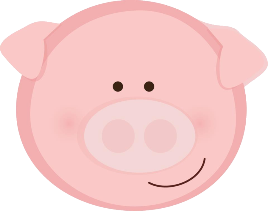 Minus say hello f. Clipart animals pig