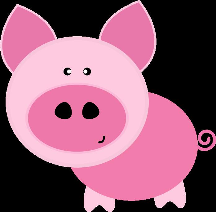Pig clipart pink. Download clip art free