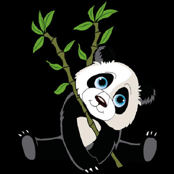 Panda bears cartoon animal. Free clipart bear