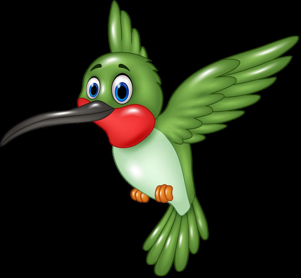 Hummingbird clipart simple. Funny cartoon animals vector