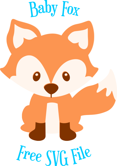 Free animal cut file. Racoon clipart baby fox