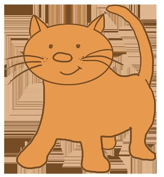 Cartoon drawings of animals. Hunting clipart cat
