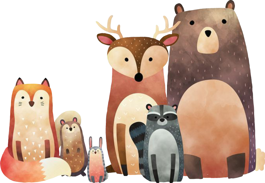 Animals winteriscoming november hellonov. Woodland clipart woods animal