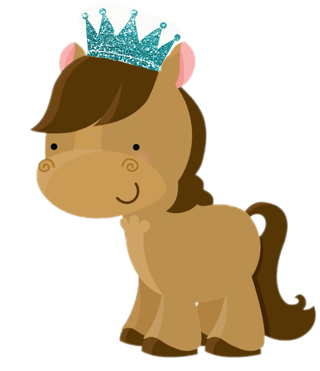 Crown horse pony blue. Clipart animals report
