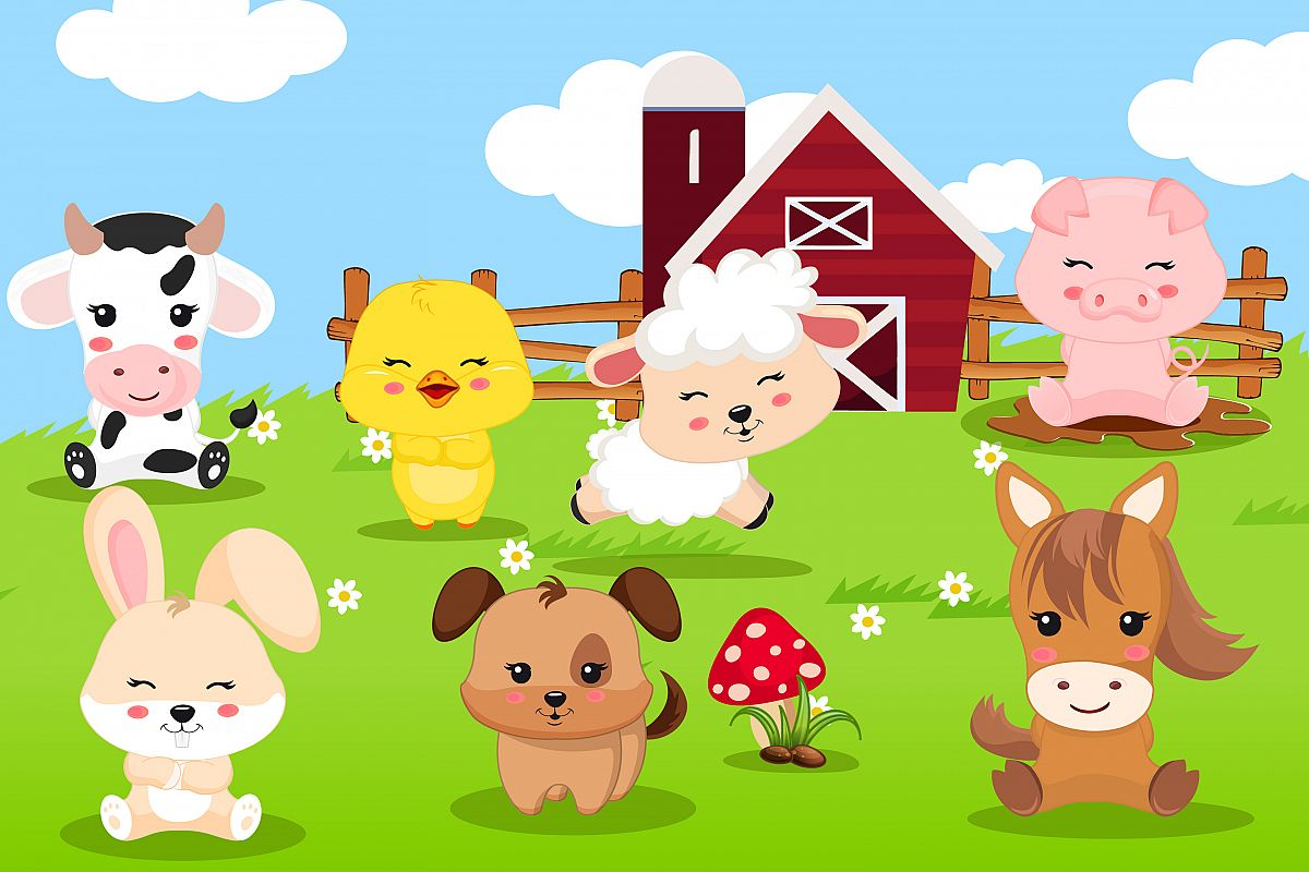 Farming clipart farmyard animal. Farm graphics